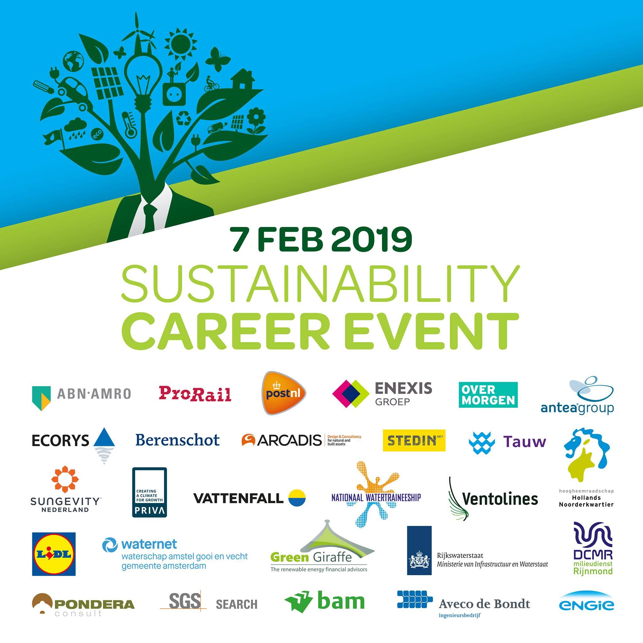 sustainability career event bedrijven sign up aanmelden 2019